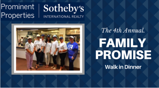 Prominent Properties Sotheby's International Realty volunteers for the 4th year with Family Promise's 'Walk in Dinner' Program