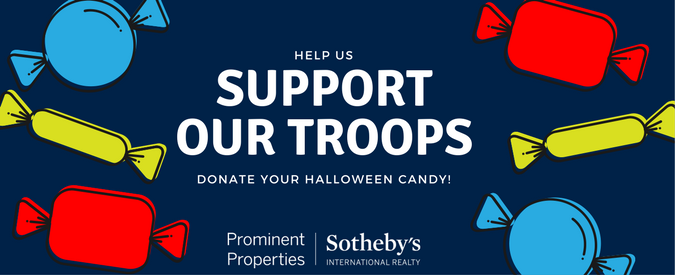 With Halloween being all wrapped up, drop off your leftover candy at our Prominent Properties Sotheby's International Realty Short Hills regional office
