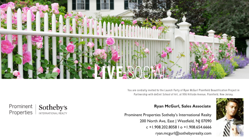 "Ryan McGurl, Sales Associate of Prominent Properties Sotheby's International Realty partners with duCret School of Art to form ""The Ryan McGurl Plainfield Beautification Project"""