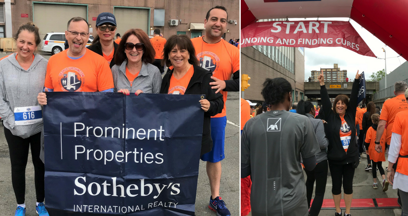 Associates of Prominent Properties Sotheby's International Realty raise money for cancer at the 2018 GW Bridge Challenge