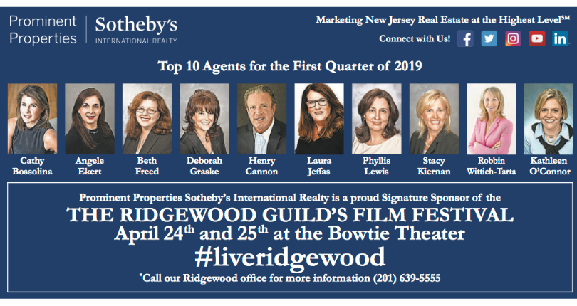 Prominent Properties Sotheby's International Realty Sponsors the 2019 Ridgewood Guild International Film Festival