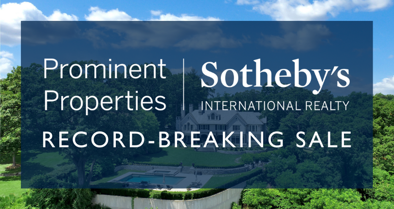 Prominent Properties Sotheby's International Realty congratulates top producing Sales Associate on highest sale in Summit New Jersey
